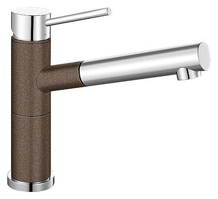 Смеситель Blanco Alta-S Compact 515334 хром/кофе для кухни смеситель для кухни blanco tera хром