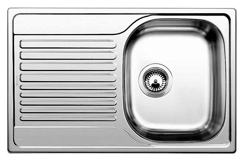 Кухонная мойка Blanco Tipo 45 S Compact сталь полированная кухонная мойка blanco tipo 45 s compact 513675