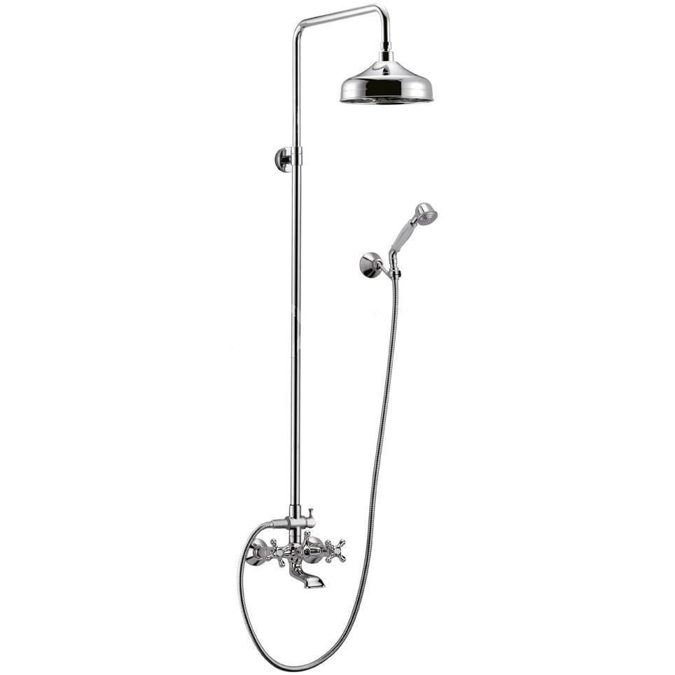 Душевая стойка Cezares Retro CVD2-01 душевая система belbagno slip со смесителем для ванны верхним и ручным душем ручки foglio хром sli doc crm foglio