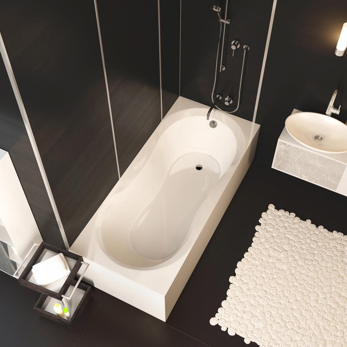 Акриловая ванна Alpen Mars 110x70 акриловая ванна alpen mars 170x75 комплект