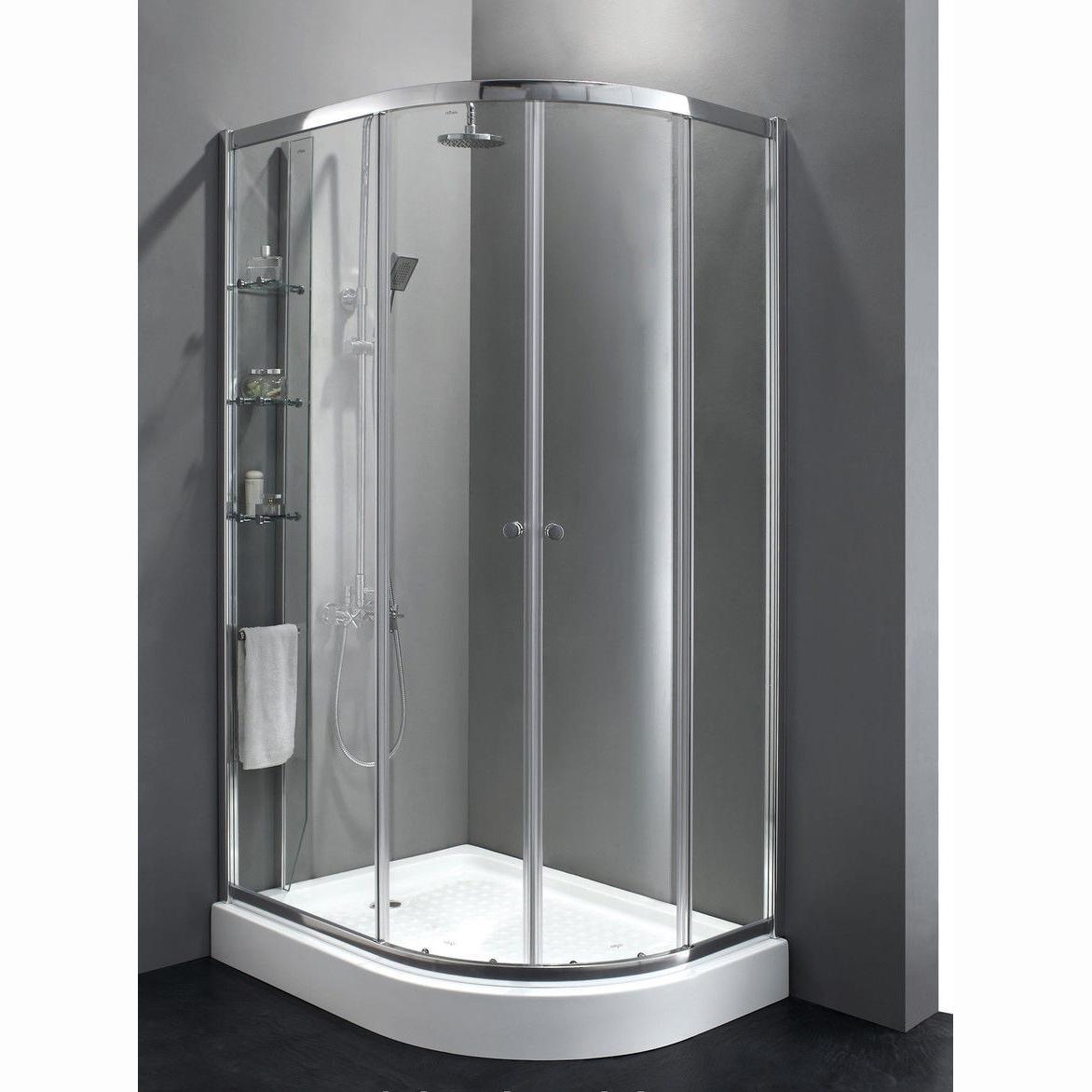 Душевой уголок Cezares Anima RH2 120x90 прозрачное стекло, профиль хром Левый душевой поддон sturm jump 120х90х5 левый