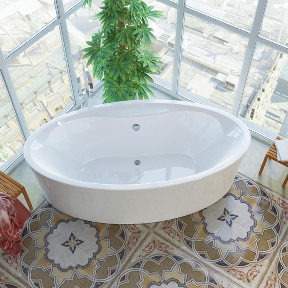 Акриловая ванна Alpen Ventura 194x100 вытяжка каминная maunfeld tower round 60 black белый