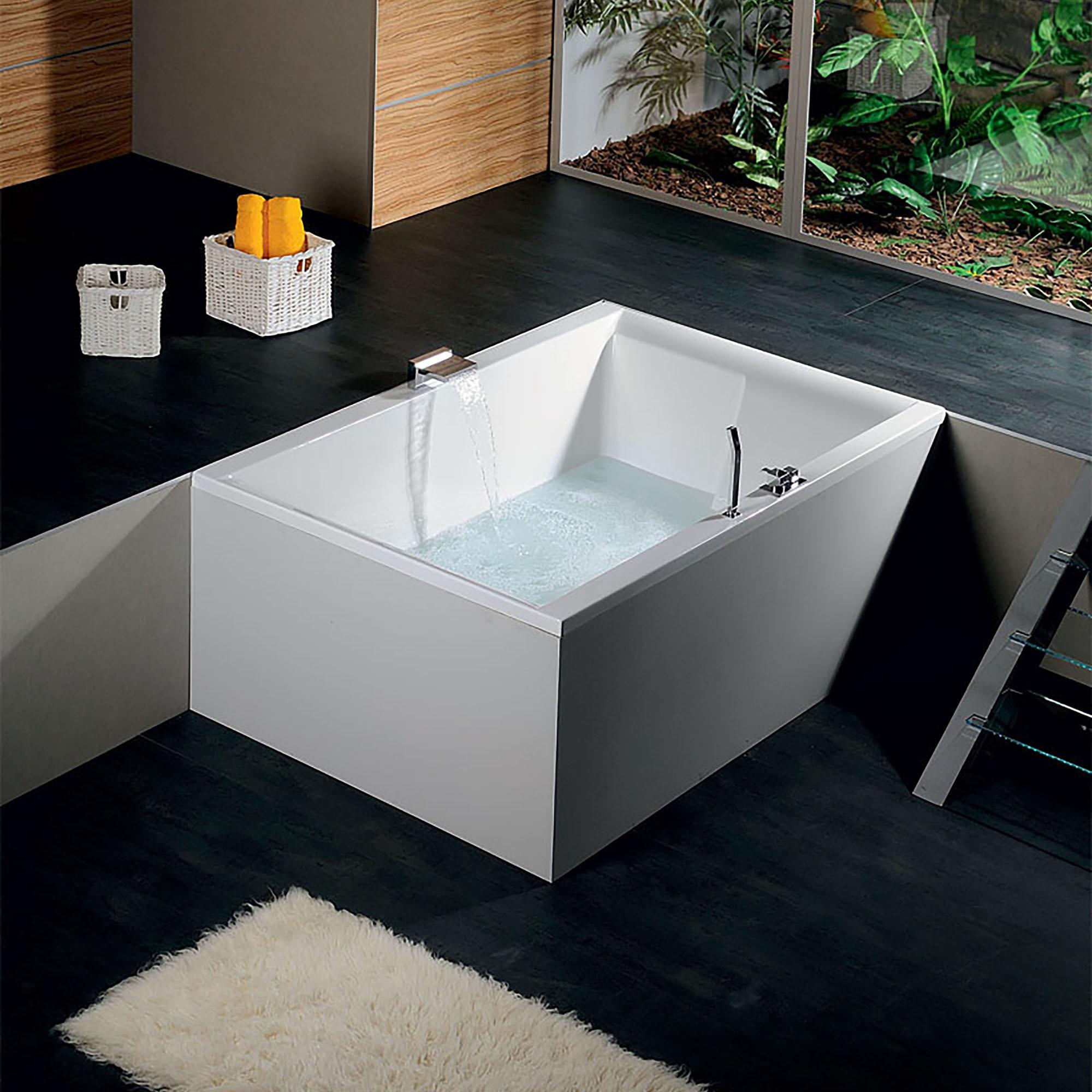 Акриловая ванна Alpen Dupla 180x120 акриловая ванна alpen triangl 180x120 r правая комплект