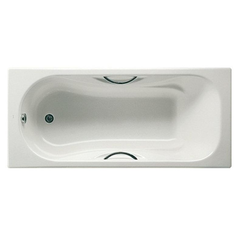 Чугунная ванна Roca Malibu 160х70 с отверстием под ручки