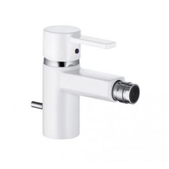 Смеситель Kludi Zenta 38530 9175 белый/хром для биде смеситель для биде kludi ambienta с донным клапаном 532160575