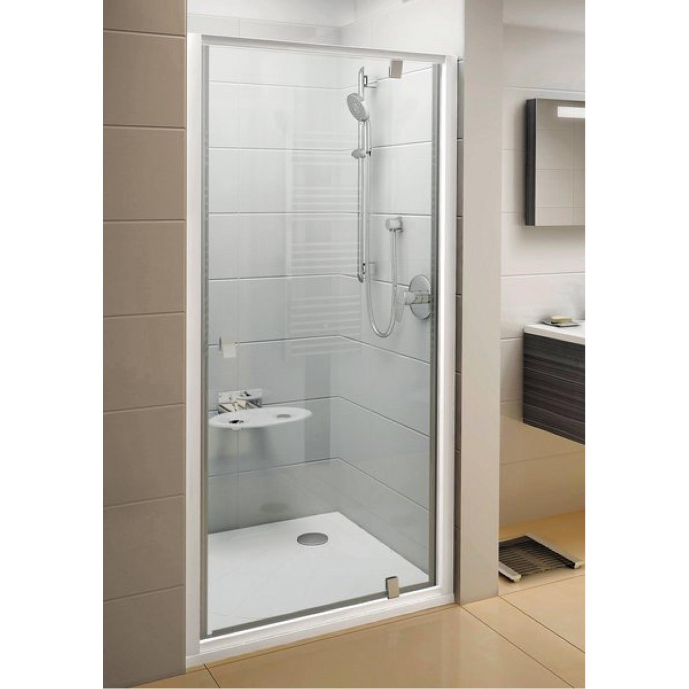 Душевая дверь Ravak PDOP1 80 белая/белая + Транспарент