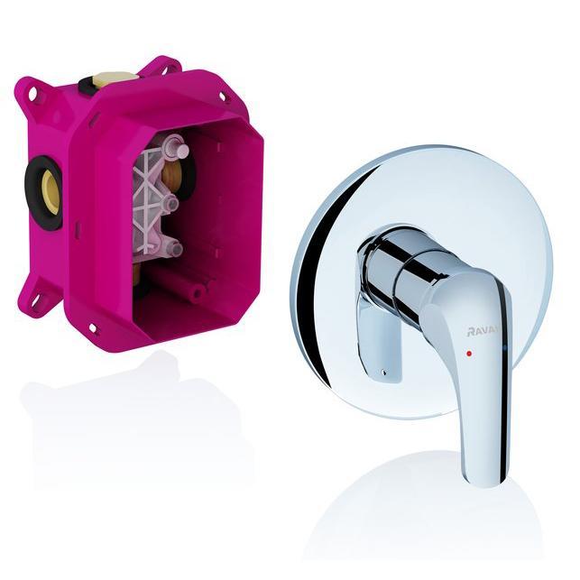 Смеситель Ravak Rosa RS 066.00 для душа монтажная коробка ravak r box multi rb 071 50