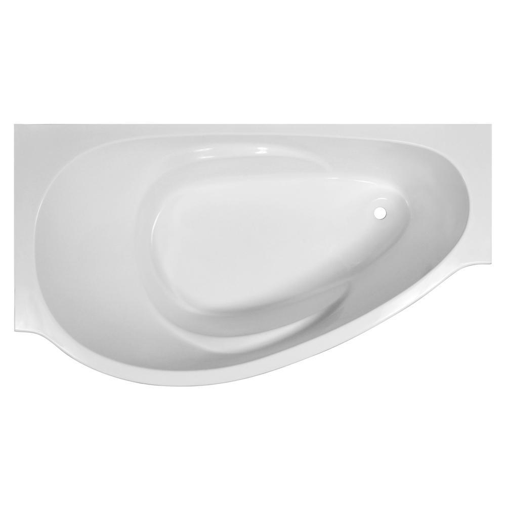 Ванна Эстет Грация белая левая ванна эстет лаура белая