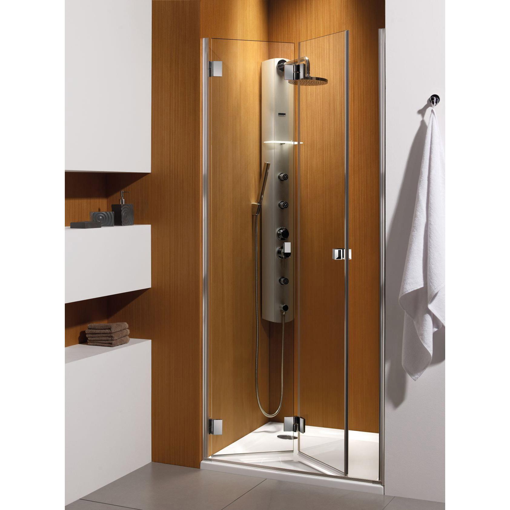 Душевая дверь Radaway Carena DWB 90 L хром/коричневое кухонный стол кубика портофино 2 рис 1 ноги хром стекло темно коричневое венге