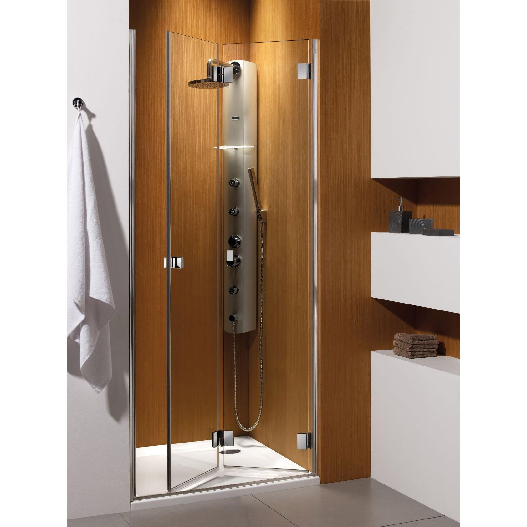 Душевая дверь Radaway Carena DWB 90 R хром/коричневое кухонный стол кубика портофино 2 рис 1 ноги хром стекло темно коричневое венге
