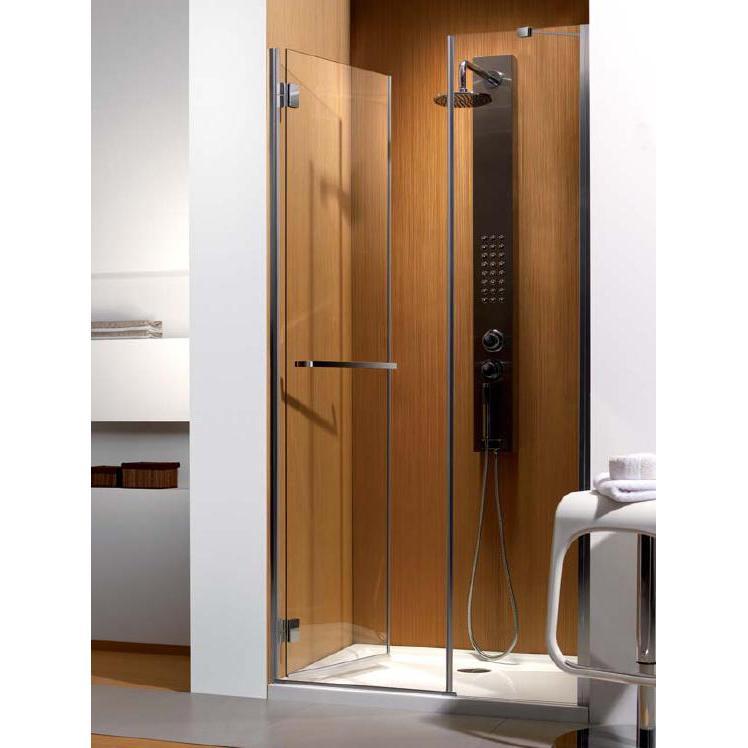 Душевая дверь Radaway Carena DWJ 90 L хром/коричневое кухонный стол кубика портофино 2 рис 1 ноги хром стекло темно коричневое венге