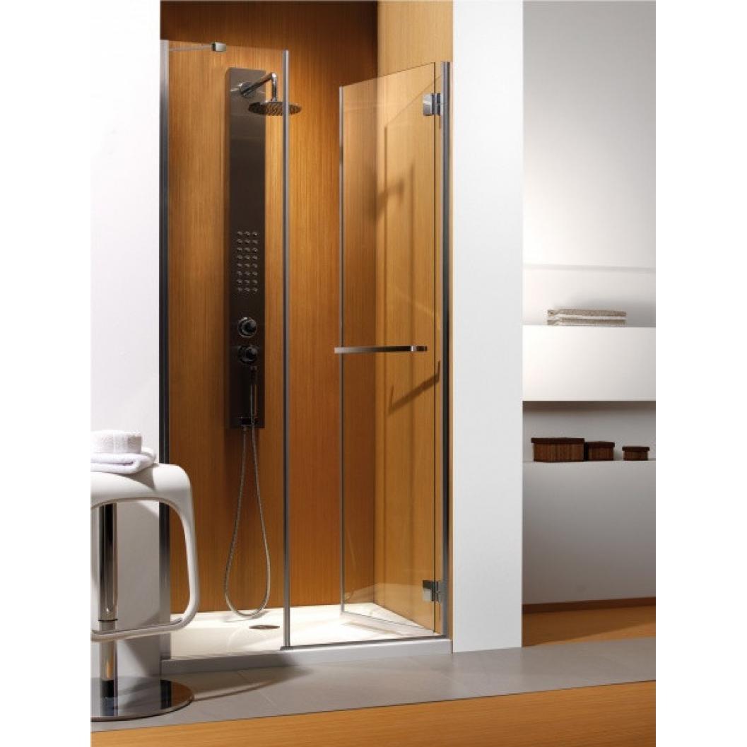 Душевая дверь Radaway Carena DWJ 90 R хром/коричневое матрас dreamline springless soft slim 90х195 см