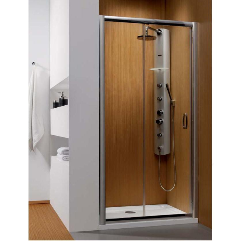Душевая дверь Radaway Premium Plus DWJ 140 хром/коричневое кухонный стол кубика портофино 2 рис 1 ноги хром стекло темно коричневое венге