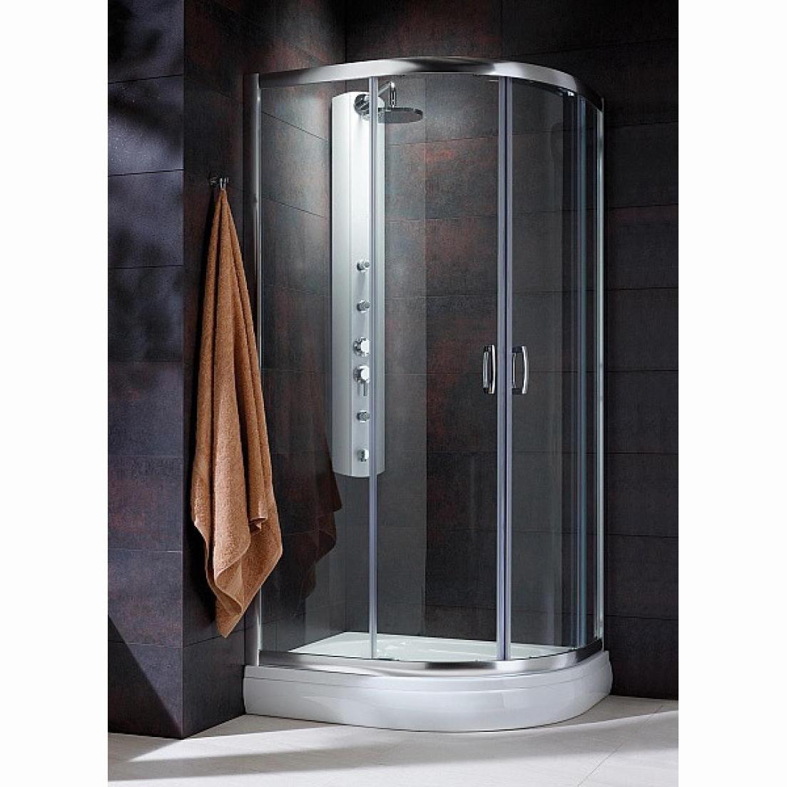 Душевой уголок Radaway Premium Plus E 100х190 профиль хром, стекло фабрик