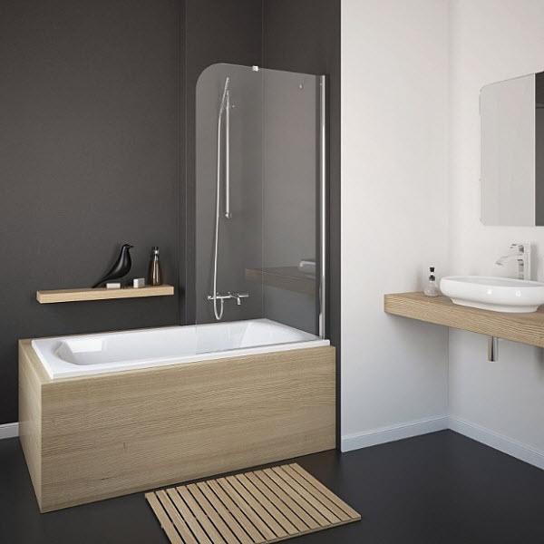 Шторка для ванны Radaway Torrenta PNJ 80х150 R графитовая
