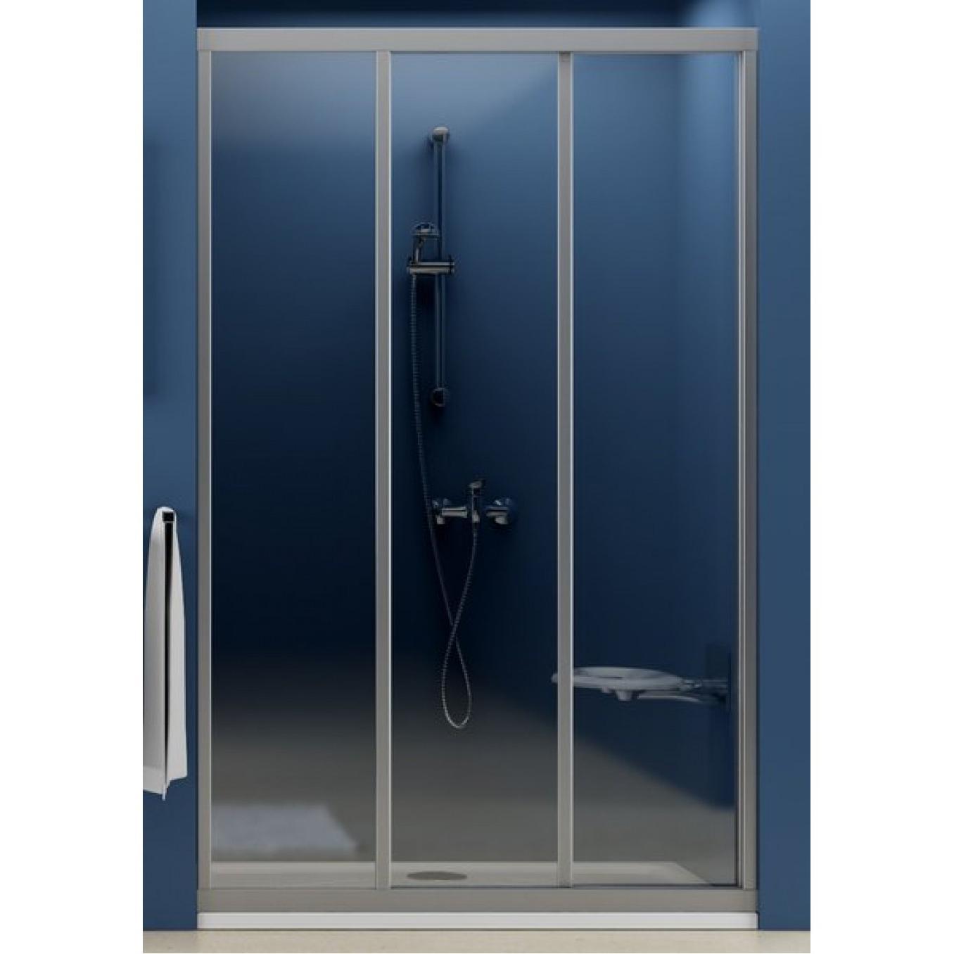 Душевая дверь Ravak ASDP3 120 белый профиль, матовое стекло опорная рама мод 5300 для поддонов регулируется до размера 120 120
