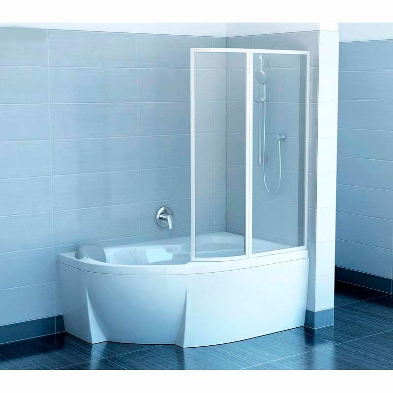 Шторка для ванны Ravak VSK2 Rosa 140 P прозрачное стекло душевая шторка на ванну cezares eco eco o v 11 120 140 p cr r