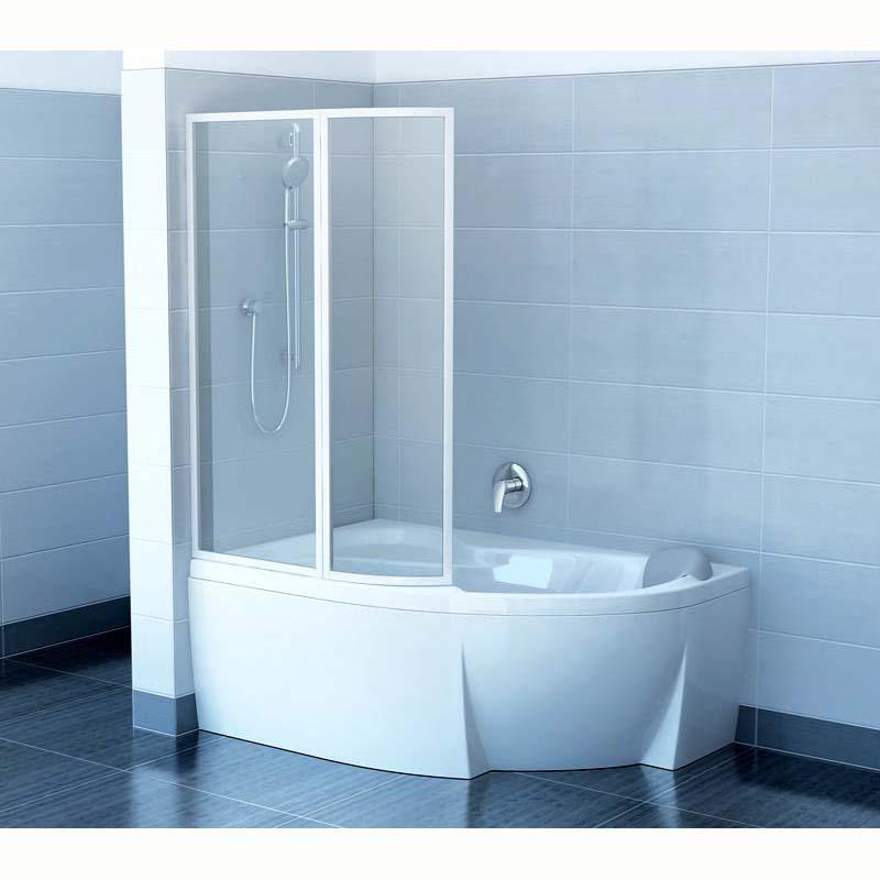 Шторка для ванны Ravak VSK2 Rosa 160 L прозрачное стекло шторка для ванны ravak cvs1 80 l блестящий профиль прозрачное стекло