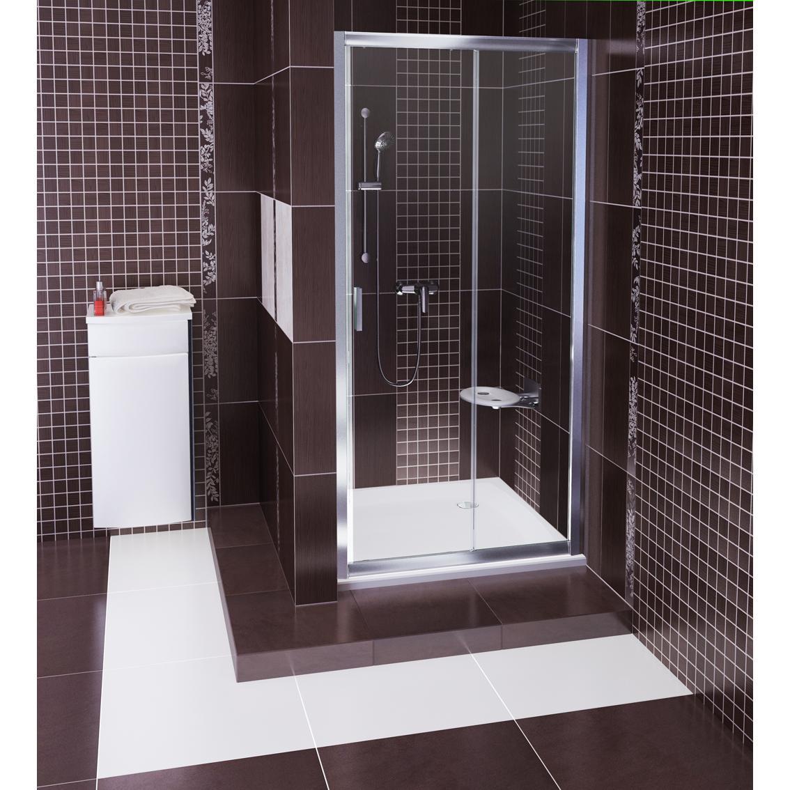 лучшая цена Душевая дверь Ravak BLDP2 110 блестящий+Транспарент