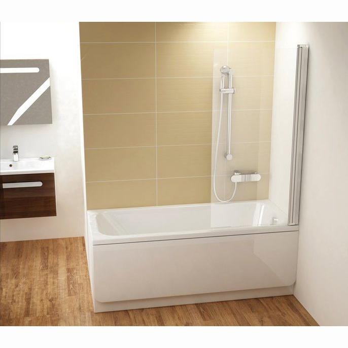 Шторка для ванны Ravak CVS1 80 R белый профиль, прозрачное стекло шторка для ванны ravak cvs1 80 l блестящий профиль прозрачное стекло