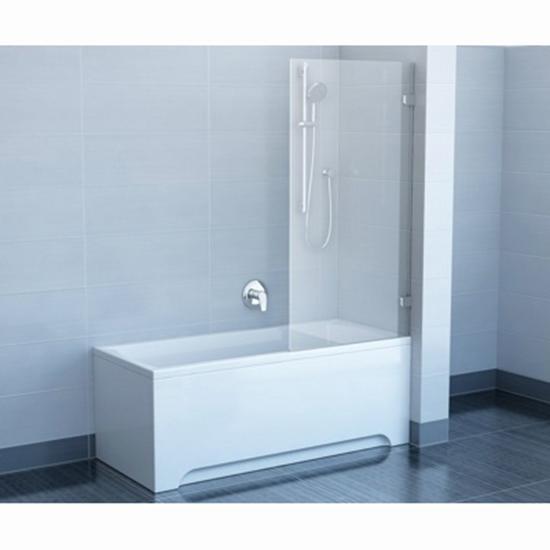 Шторка для ванны Ravak CVS1 80 R профиль хром, прозрачное стекло шторка для ванны ravak cvs1 80 l блестящий профиль прозрачное стекло