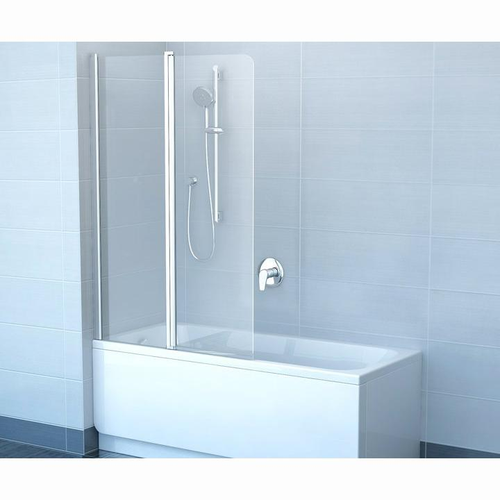 Шторка для ванны Ravak CVS2 100 L профиль хром, прозрачное стекло шторка для ванны ravak cvs1 80 l блестящий профиль прозрачное стекло