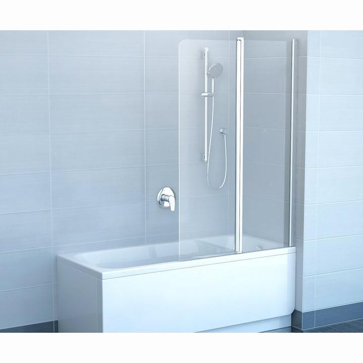 Шторка для ванны Ravak CVS2 100 R блестящий профиль, прозрачное стекло шторка для ванны ravak cvs1 80 l блестящий профиль прозрачное стекло