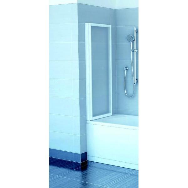 Шторка для ванны Ravak VS2 105 белый профиль, прозрачное стекло
