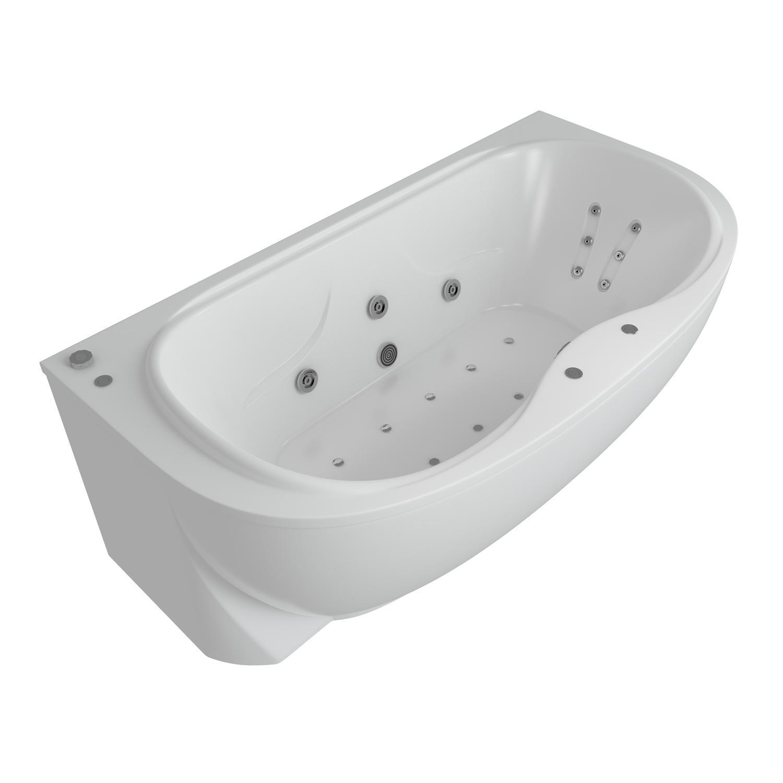 Акриловая ванна Акватек Мелисса 180x95 без гидромассажа акриловая ванна акватек феникс 160x75 без гидромассажа