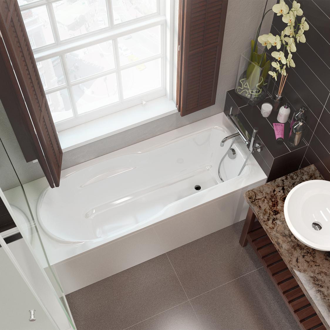 Акриловая ванна Alpen Karmenta 170x70 без гидромассажа акриловая ванна alpen karmenta 170x70 комплект