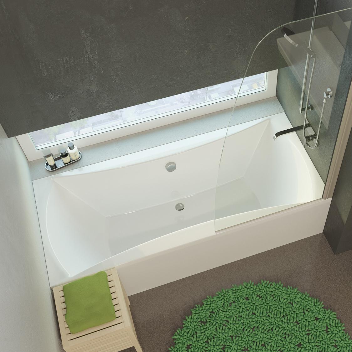 Акриловая ванна Alpen Luna 170x75 без гидромассажа акриловая ванна alpen fontana 170x75 комплект