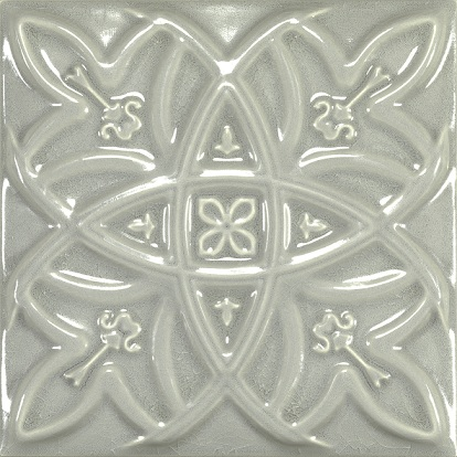 Antique Crackle Deco Relieve Greengreycrack Декор 150х150 мм/6шт декор adex studio relieve vizcaya timberline 14 8x14 8
