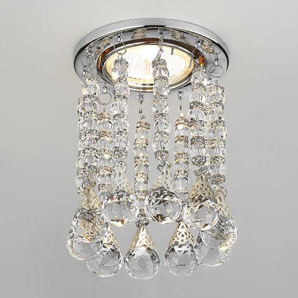 Встраиваемый светильник Ambrella light Crystal K2241 CL/CH new item crystal pendant lights modern lustre lamps black dinning room coffee shop light ac110v 220v