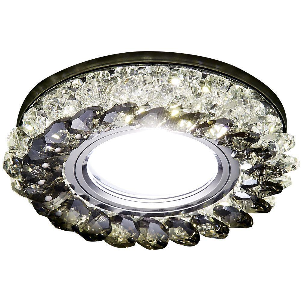 Встраиваемый светодиодный светильник Ambrella light Led S701 CL/GD/WH светильник светодиодный встраиваемый эра kl11a wh gd