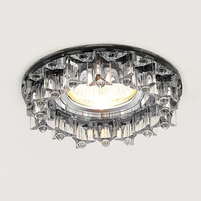 Встраиваемый светильник Ambrella light Crystal K370 BK new item crystal pendant lights modern lustre lamps black dinning room coffee shop light ac110v 220v