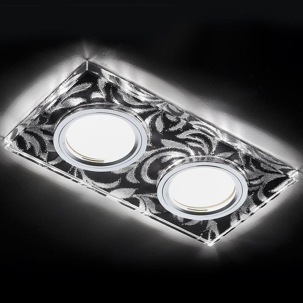 Встраиваемый светодиодный светильник Ambrella light Led S234/2 BK/CH/WH