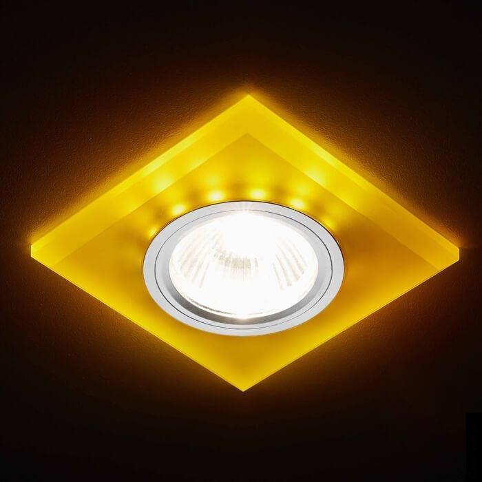 Встраиваемый светодиодный светильник Ambrella light Led S215 WH/CH/YL цены