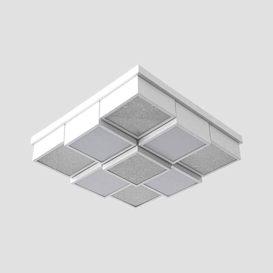 Потолочный светодиодный светильник Ambrella light Orbital Crystal Sand FS1540 WH/SD 108W D540*540 ambrella потолочный светильник ambrella orbital air f11 wh 72w d400
