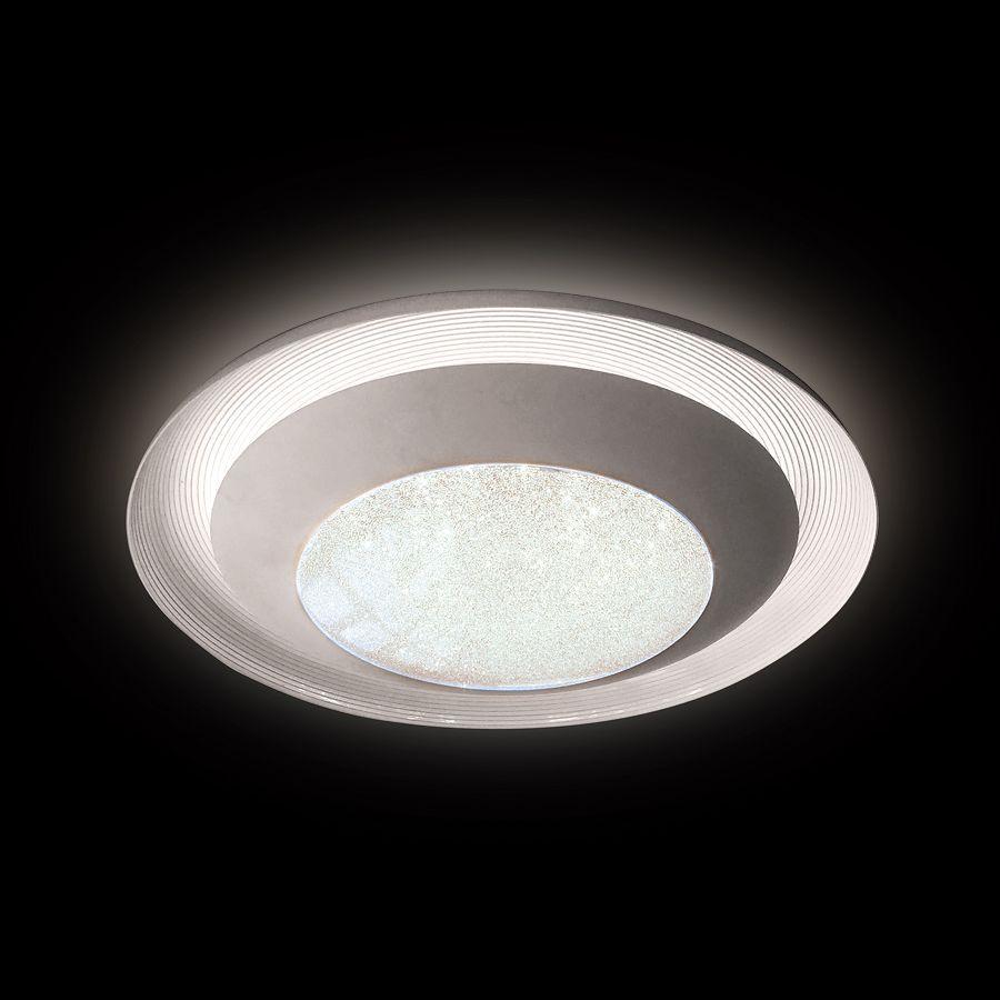 Потолочный светодиодный светильник Ambrella light Orbital Crystal Sand FS1260 WH/SD 48W D500 ambrella потолочный светодиодный светильник ambrella orbital crystal sand fs1261 wh sd 72w d790