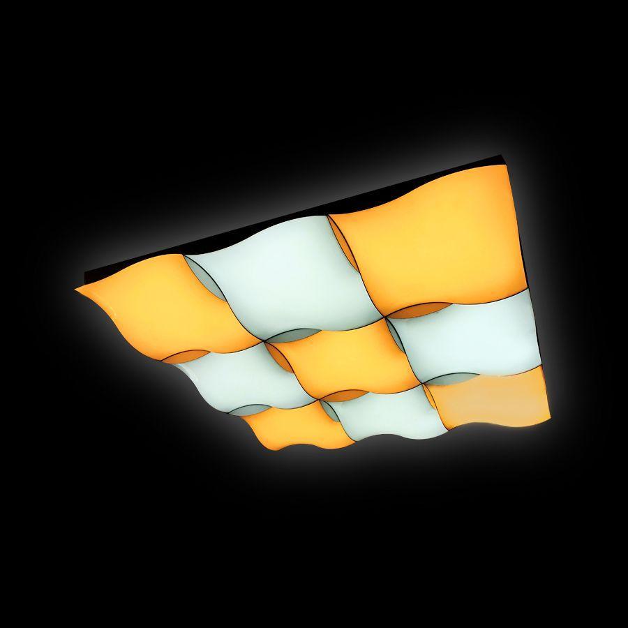 Потолочный светодиодный светильник Ambrella light Orbital Parrus FP2359 WH 288W D720*720
