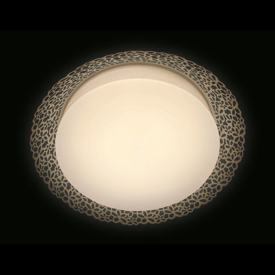 Потолочный светодиодный светильник Ambrella light Orbital Design F119 WH 72W D520