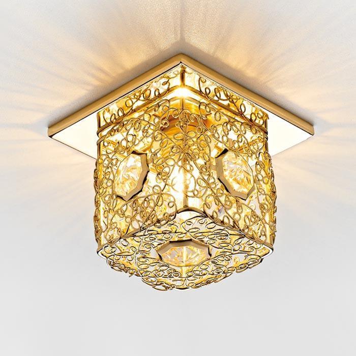 Встраиваемый светильник Ambrella light Desing D1003 G/CL ambrella встраиваемый светильник ambrella design d4060 cl g