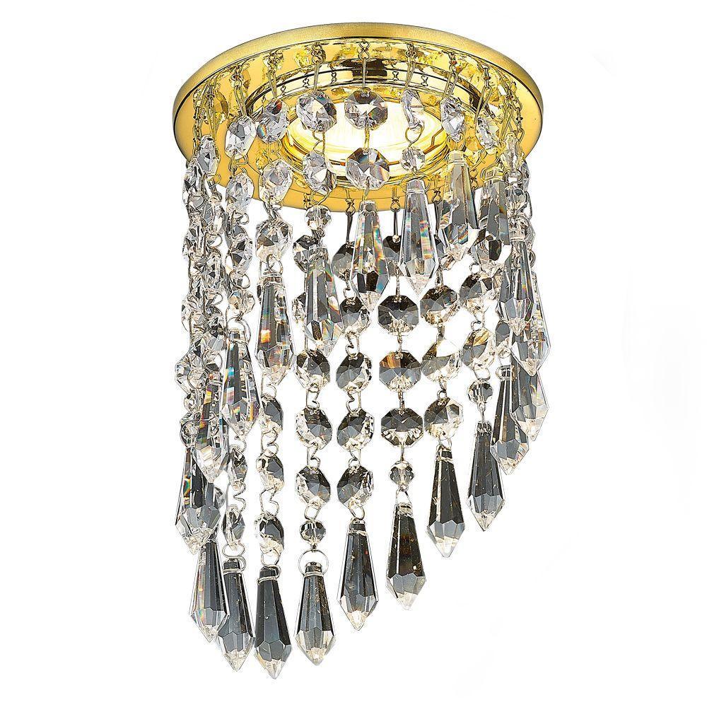 Встраиваемый светильник Ambrella light Crystal K2247 CL/G ambrella встраиваемый светильник ambrella design d4060 cl g