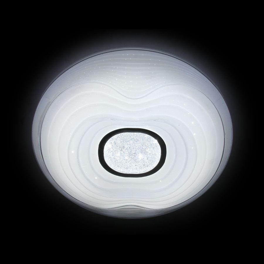 Потолочный светодиодный светильник Ambrella light Orbital Crystal Sand FS1235 WH 72W D490 ambrella потолочный светодиодный светильник ambrella orbital crystal sand fs1261 wh sd 72w d790