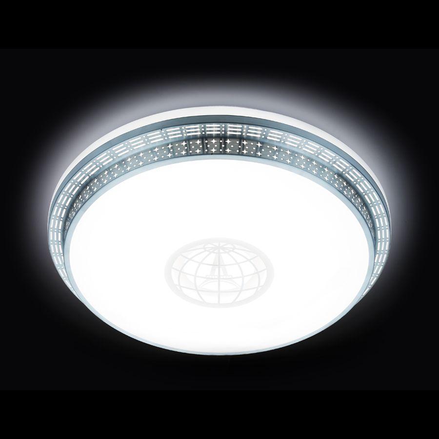 Потолочный светодиодный светильник Ambrella light Orbital Design F128 WH SL 72W D500 ambrella потолочный светильник ambrella orbital air f11 wh 72w d400