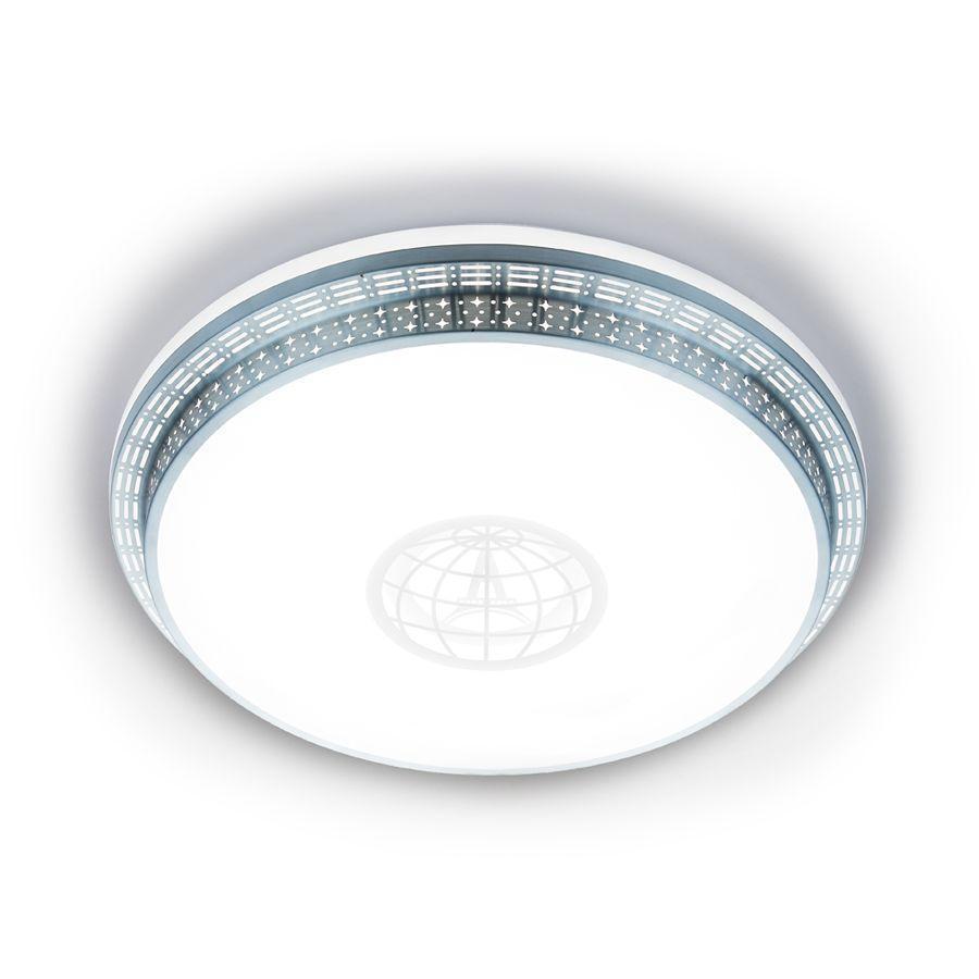 Потолочный светодиодный светильник Ambrella light Orbital Design F128 WH SL 72W D500