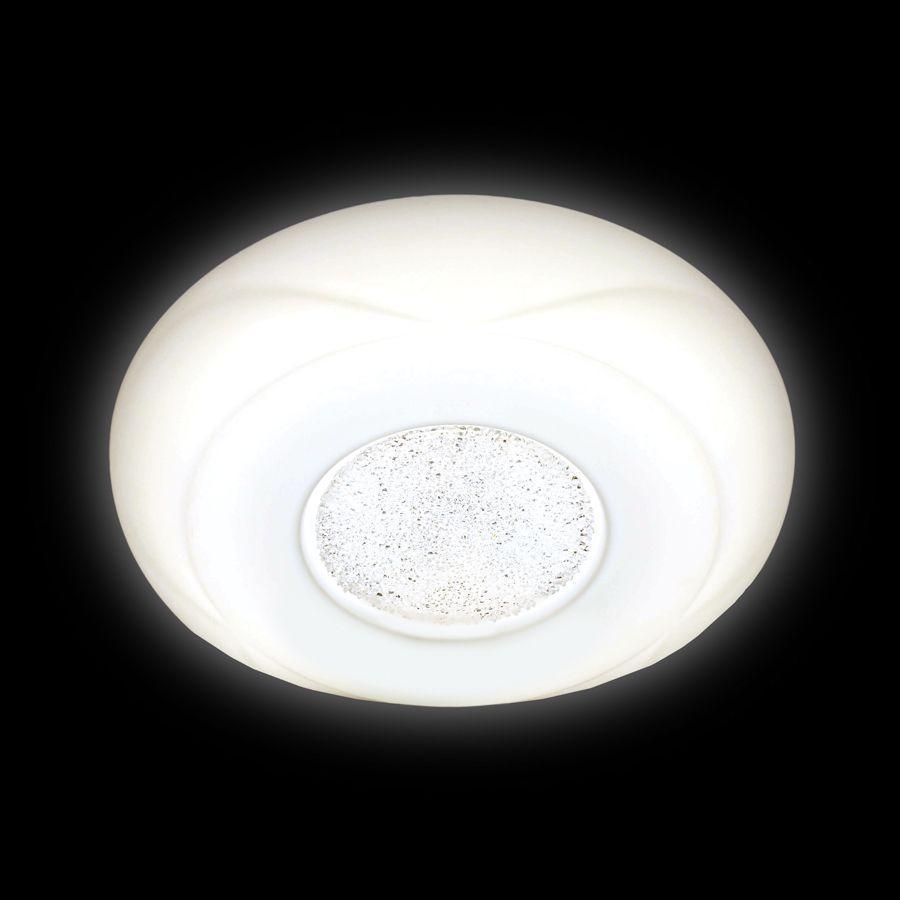 Потолочный светодиодный светильник Ambrella light Orbital Design F201 WH 48W D370 недорго, оригинальная цена