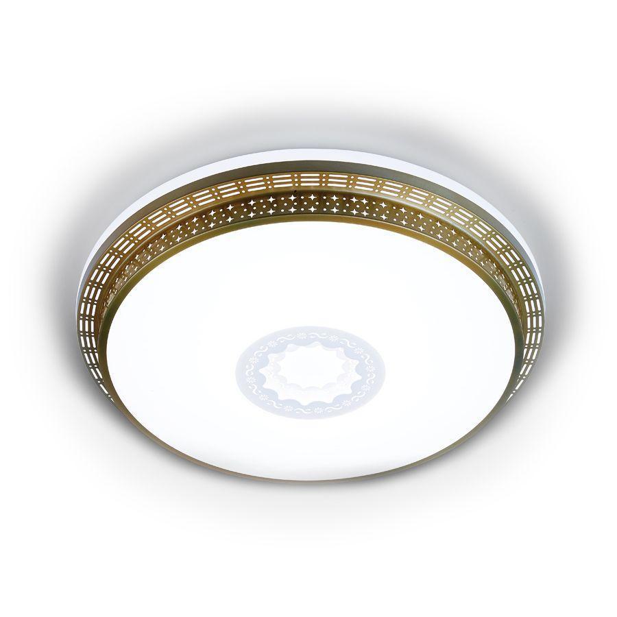 Потолочный светодиодный светильник Ambrella light Orbital F130 WH GD 72W D500 светильник ambrella orbital f86 wh 72w d500