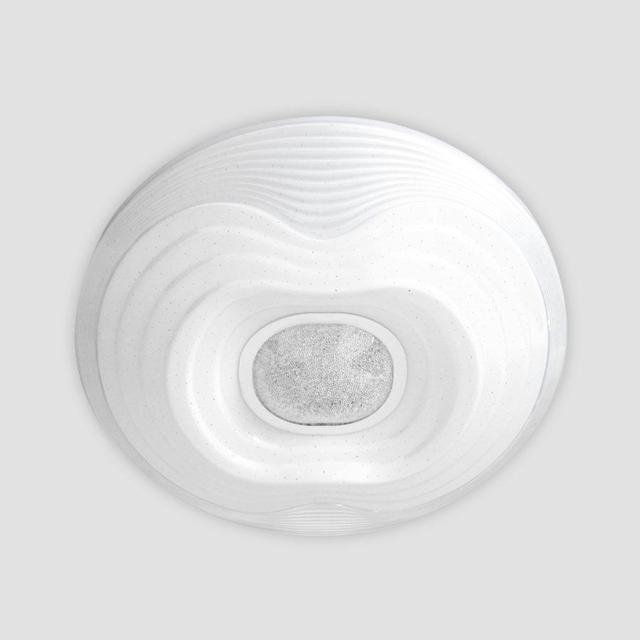 купить Потолочный светодиодный светильник Ambrella light Orbital Crystal Sand FS1235 WH 72W D490
