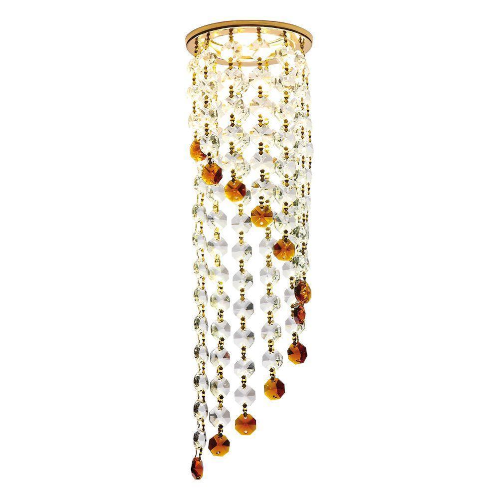 Встраиваемый светильник Ambrella light Crystal K3440 CL/BR/G ambrella встраиваемый светильник ambrella design d4060 cl g